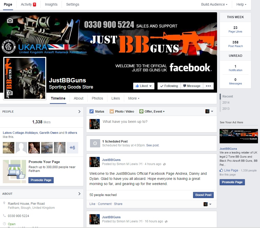 just bb fb page