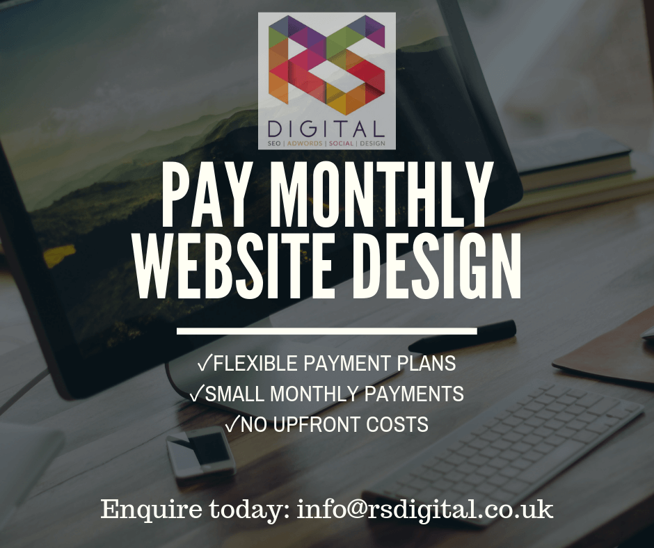 Pay Monthly Website Design and Development